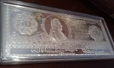 8oz .999 Silver Bullion Bar Coin: $50 NOTE - 'A HOUSE DIVIDED CANNOT STAND'