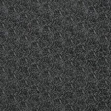 G341 Silver Black Metallic Floral Vines Upholstery Faux Leather By The Yard