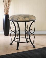 BUTTERFLY sturdy iron padded cushion bench vanity seat stool footstool ottoman