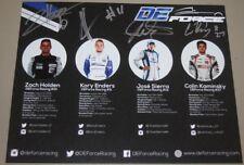 2018 DE Force Racing Mazda signed MRTI USF2000 postcard 4 Drivers