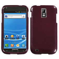 Carbon Fiber/Red Phone case for SAMSUNG T989 (Galaxy S II)