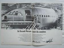 9/1970 PUB AVIONS MARCEL DASSAULT MERCURE AIRLINER AIRCRAFT ORIGINAL AD