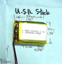 USA 3.7V 1800mAh Lithium-Polymer LiPo Battery w/ connector & Circuit Protection