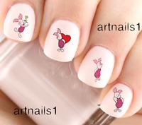 Disney Piglet Winnie the Pooh Bear Nail Art Water Stickers Manicure Salon Polish