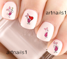 Disney Piglet Winnie Pooh Bear Nail Art WaterSlideStickers Manicure Salon Polish