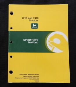 GENUINE 1999 JOHN DEERE 7210 7410 TRACTOR OPERATORS MANUAL VERY NICE SHAPE