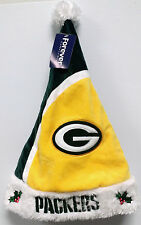 Green Bay Packers Hat Embroidered Christmas Holiday Santa Hat