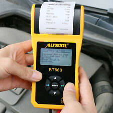 BT-660 Car Cranking Starting Charging System Battery Tester Printer 12V/24V
