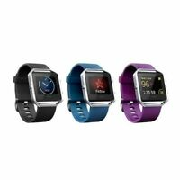 Fitbit Blaze Activity Tracker  Black/Blue/Plum Small/Large  Heart Rate Monitor
