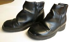 Faded Glory Kids 9.5M Girls Black Shooties Ankle Boots Shoes Clean Zippers Clean