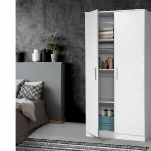 Artiss Multi-purpose Cupboard 2 Door 180cm Wardrobe Closet Storage Cabinet Kitch