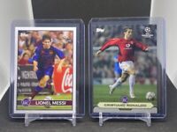 Topps Lost Rookie-  Lionel Messi & Cristiano Ronaldo Rookie Card -2 card Lot