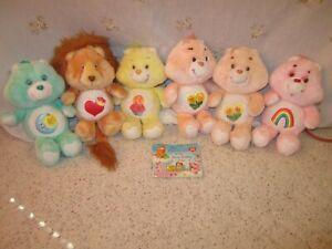 6 1980's Plush Care Bear's & 3 2000's Plush Care Bear's Very Nice!!!