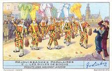 CARD IMAGE 1942 : Carnaval de Binche Gilles Carnival COSTUME BELGIQUE BELGIUM