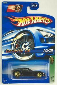 2006 Hot Wheels Treasure Hunts Corvette C6 International Card Rare # 10 Of 12