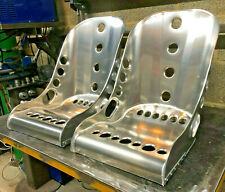 Aluminium Bucket Seat, Low Top - Short Side Bomber Seat (x2) VW, Mini, Classic