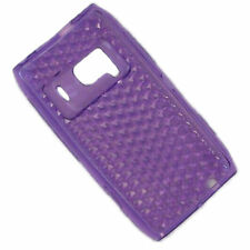 HQRP TPU (Polyurethane) Purple Cover Case with Diamond Back Design for Nokia N8