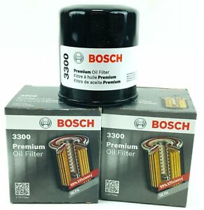 Set of 2 Genuine Bosch 3300 Premium Spin-On Engine Oil Filters Free Shipping