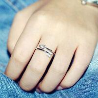 925 Sterling Silber Liebespfeil Einstellbare Größe Pfeile Ringe Öffnende Ring