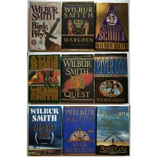Wilbur Smith Book Lot of 9 - River God, Warlock, Seventh Scroll, Elephant Song