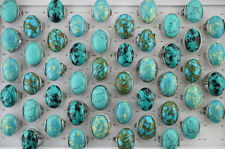 Wholesale Lots 35pcs 3Style Mixed Assorted Oval Natural Stone Women Trendy Rings