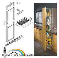 Hafele soft close 400mm wide pull out tall larder unit for Wickes kitchen carcass
