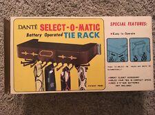 Vintage Dante Select-O-Matic Battery Operated Tie Rack In Original Box