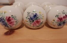 Porcelain Vintage Door Knobs & Handle White & Floral Design - Other Items too!