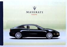 Maserati Coupe' M138 anno 2004,lingua Spagnola.