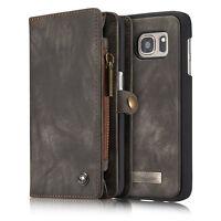 CASEME Retro Wallet Split Leather Case Cover for Samsung Galaxy S7 Edge G935
