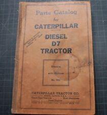 CAT Caterpillar D7 Tractor Dozer Crawler Parts Manual Book catalog 7M spare list