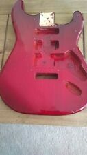 Electric guitar body red strat style