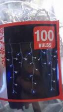 Homebase 100 Blu e Bianco Led Ghiacciolo Luci Effetto Luce di Natale Christmas