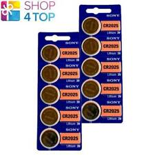 10 SONY CR2025 LITHIUM BATTERIES 3V 160 MAH CELL COIN BUTTON EXP 2029 NEW