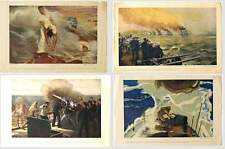 WW I HEROIC ACTION PRINTS - NAVY BUREAU OF NAVIGATION