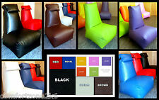 LARGE ADULT  FAUX LEATHER BEANBAG COMPUTER CHAIR HEAD REST bean bags WITH BEANS