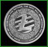 2018 1oz Silver Shield Litecoin BU Round .999 W/ Air-Tite MiniMintage Crypto
