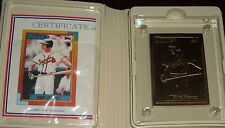 DAVID JUSTICE Highland Mint 1990 TOPPS #48T Bronze Card /2,500 Atlanta Braves