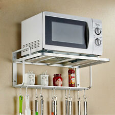 New Hanging Microwave Oven Stand Storage Rack Shelf Space Saving Kitchen Bracket