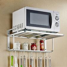 Heavy Duty Hanging Microwave Oven Stand Storage Rack Shelf Space Saving Bracket