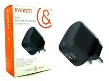 Genuine Cygnett 2.4A Dual USB Fast Wall Charger For iPhone 7/6/6S/5/5S/5C/SE NEW