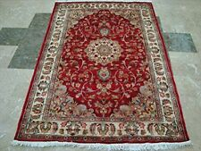 New Love Beauty Floral Oriental Area Rug Hand Knotted Wool Silk Carpet (6 x 4)'