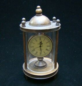Collectible Handmade Carved  Statue Copper Bronze Mechanical Clock Art Deco