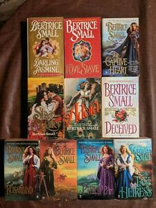 Lot of 10 Paperbacks by Bertrice Small with entire set 4 Friarsgate Inheritance