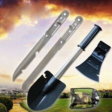 New Survival Emergency Camping Hiking Knife Shovel Axe Saw Gear Kit Tools TOP
