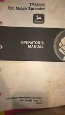 Jd John Deere 220 Mulch Spreader Operators Manual Omty24999 c0