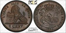Belgium 1858 1 Centime KM#1.2  PCGS MS63BN  Great Brown luster!!