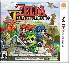 NEW Legend of Zelda: Tri Force Heroes (Nintendo 3DS, 2015)