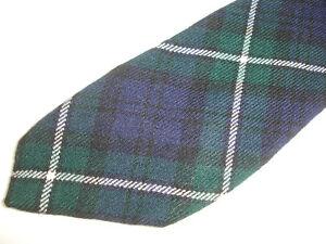 Vintage Tartan Plaid Lochcarron Forbes 100% New Wool Made in Scotland Neck Tie