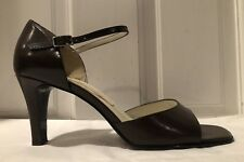 4f0b040ea8 Bandolino Delwood Brown Leather Open-Toe Women's Shoes with Ankle Strap  Size 7.5